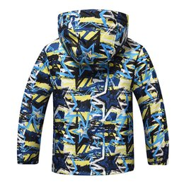 fleece lined tops Canada - 2018 Winter Children jacket Outerwear Sport Polar Fleece Coats Kids Clothes Waterproof Windbreaker For Boys Jackets Tops