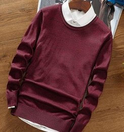 Cashmere sweater mens online shopping - New Handsome Cashmere Sweater Men Long Sleeve Slim Fit Round Neck Mens Christmas Sweaters and Pullover Men High Quality