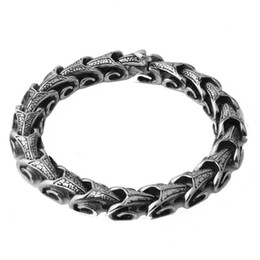 Chunky Curb Chain online shopping - Mens Silver Tone Bracelet Wrist Chunky Curb Chain Bracelets Pulseiras masculinas L Stainless Steel Jewelry Gift