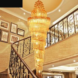 Staircase Chandelier Double Staircase Lamp Long Chandelier Luxury Villa  Crystal Lamp Modern Minimalist Living Room LED Luxury Staircase Chandeliers  Outlet