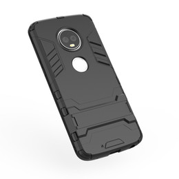 Per MOTO E5, G6 Plus LG Stylo4 G7 Stylo 4 Ironman Custodia Hybrid Difensore in plastica rigida + TPU morbido Supporto antiurto Strato Rugged 2 in 1 Cover