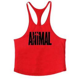 Großhandel Animal Gyms Tank Top Männer Training Kleidung Bodybuilding Stringer Männer Muskel Westen Baumwolle Y zurück Singlets debardeur fitness homme