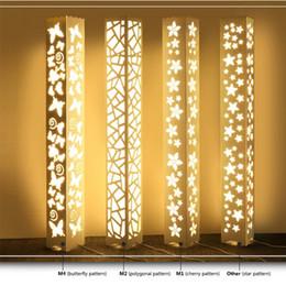 Restaurant Flooring NZ - LED Carved Floor Lamp 0.6 M 1.2 Meters Led Fashion Brief Cutout Carved Floor Lamp Table Bedroom Bedside Restaurant Light