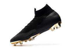 Опт Кубок мира новый футбол бутсы Mercurial Superfly обратно золото CR7 FG футбольные бутсы детские футбольные бутсы высокое качество размер 35-45