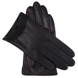 7d4bc0811701 Genuien Leather Gloves Lady Autumn Sheepskin Gloves Driving Thin Style  Breathable Touchscreen Woman L18001NN