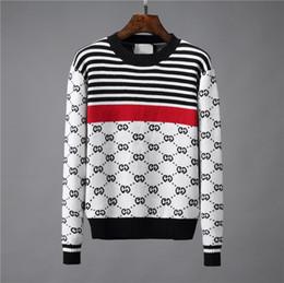 EmbroidErEd sports jackEts online shopping - Men s Black Striped Knit Wool Tiger Embroidered Sweatshirt Man Brand Men g Sports Sweater Coat Jacket Pullover Designs Cardigan Designer