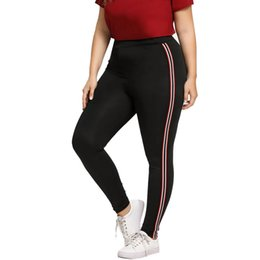 5f9a06944937e Plus Size 5XL For Women Hot Striped Print Yoga Pants Sport Leggings Push Up  Fitness Gym Clothes Black Running Tights Trousers