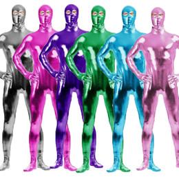 $enCountryForm.capitalKeyWord Australia - S-3XL Adult Men Metallic Lycra Spandex Cosplay Halloween Party Open Eyes Full Body Zentai Jumpsuit Bodysuit Suit Unitard Plugsuit