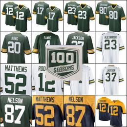 100th season patch Packers Jersey Jimmy Graham 12 Aaron Rodgers Jaire  Alexander Jackson Brett Favre Davante Adams Clay Matthews 01 e05944c32