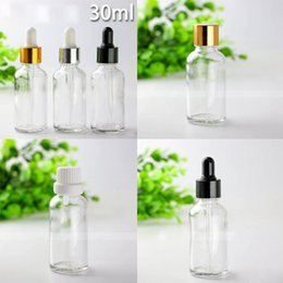 Hot Glasses Australia - Hot Selling 660pcs lot 30ml empty Clear glass e liquid bottles 1oz glass essential oil dropper bottle DHL Free Shipping