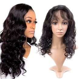 Sale Remy Full Lace Wigs Australia - On sale free shipping 100% unprocessed virgin remy human hair long natural color body wave full lace top aaaaaaa wig for women