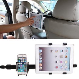 Headrest bracket mount online shopping - Car Back Seat Headrest Mount Holder Stand Bracket tablet stand Kit Inch For iphone6 For samsung For iPad air