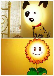 $enCountryForm.capitalKeyWord Australia - New Cartoon Dalmatians Sunflower DIY 3D Wallpaper Wall Stickers Home Room Decor Decoration LED Night Light Lamp For Kids' Bedroom