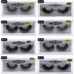 Discount sexy false eyelashes - 17 styles 3D Mink Eyelashes Eye lash Extension Sexy False Eyelashes Natural Thick Fake Eye lashes Full Strip Mink Eye La