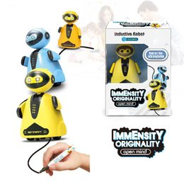 InductIve car toy online shopping - Magic Pen Inductive Vechicle penguin robot kids Toys follow The Line Inductive Cars Creative Gift for Children C4095