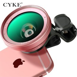 Wholesale CYKE Phone Lens kit x Super Wide Angle x Macro Lens HD Camera Lentes for iPhone S Xiaomi more cellphone