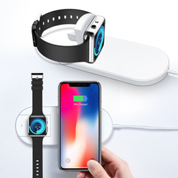 Wholesale 2 In Qi Fast Wireless Charger Fast Charging For Apple Watch iWatch Iphone X Xr Xs Max plus Pad Dock Phone Adapter