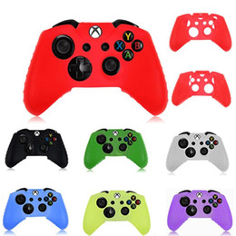 Microsoft xbox one gaMes online shopping - Soft Rubber Silicone Protective Skin Sleeve Case Cover for Microsoft Xbox one Wireless Game Controller DHL FEDEX EMS