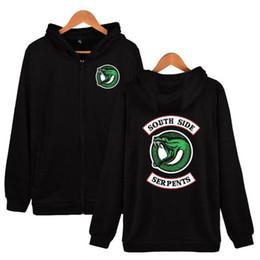$enCountryForm.capitalKeyWord Canada - Hip Hop Riverdale Hoodie Zipper Front Serpentine Print Street Men's Women's Universal Fleece Sweatshirt Apparel plus size 4XL