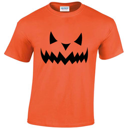 China Spooky Jack o' lantern Pumpkin Face T Shirt Top Trick Or Treat Halloween Mens Funny free shipping Unisex Casual tshirt gift supplier jack o lantern pumpkin suppliers
