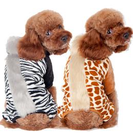 $enCountryForm.capitalKeyWord Canada - Leopard Style Pet Clothes Winter Loaded Four-legged Dog Puppy Sweater Spring Clothing Wonderful Grassland Mane Print Home Sweaters