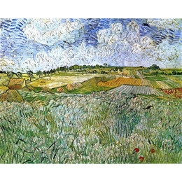 $enCountryForm.capitalKeyWord Australia - Hand painted canvas art Vincent Van Gogh Paintings The Plain at Auvers for wall decor