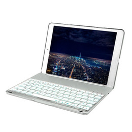 tablet metal cases NZ - Slim USB Bluetooth Wireless Backlit Keyboard for iPad 9.7 New 2017 Bluetooth Keyboard Case Cover For iPad air Tablets