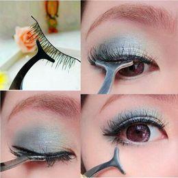 $enCountryForm.capitalKeyWord NZ - 1PCS Quality Stainless Simply Gorgeous False Eyelashes Extensions Applicator Remover Tweezer Clip Sliver Makeup Tool 12cm