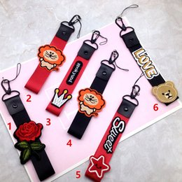 $enCountryForm.capitalKeyWord NZ - Explosions Creative cartoon love bear embroidery phone long lanyard broadband non-neck short phone shell pendant accessories