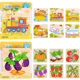 Painting Faces Australia - Wholesale-1 Pc Puzzles Toys for Children Babies Kids Early Learning Toy Six Face Painting Building 3D Animal Fruit Puzzle