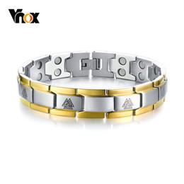$enCountryForm.capitalKeyWord NZ - Vnox Men's Double Row Magnets Energy Bracelet Magnetic Healing Watch Bands Bracelets Bangles with Viking Charm