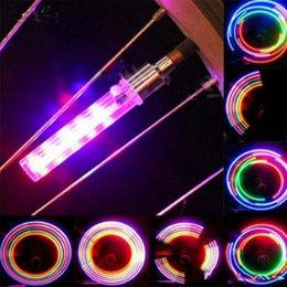 Опт 5 светодиодная вспышка велосипед огни колесный клапан с переключателем колеса велосипеда Светлячок красочные светодиодные вспышки света лампы для велосипеда мотоцикл сопла воздуха свет