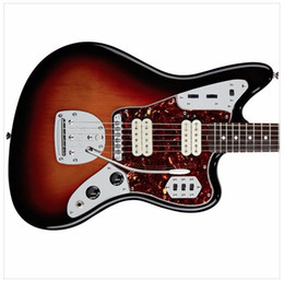 Discount electric jaguar - Custom 1964 Jazzmaster 3 Tone Sunburst Jaguar Electric Guitar Two Dual Single Coil Pickups, Vintage Kluson Tuners, Float