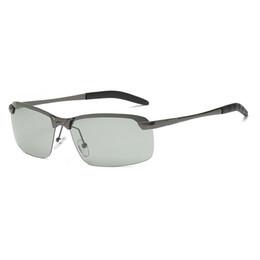 Photochromic Night Driving Sunglasses UK - width-147 New Glasses Photochromic lenses Polarized UV400 big Frame Men Sunglasses for male Driving Day and Night oculos lentes