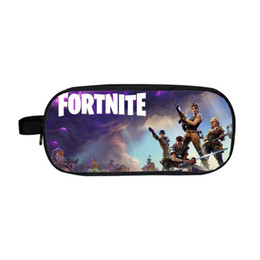 Chinese  2018 18 Styles Fortnite Pencil Bag Cartoon Pencil Cases Stationery Storage Bag School Office Outdoor Bags Kids Gift Purse 100pcs manufacturers