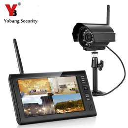 digital security systems Canada - Yobang Security 7 Inch TFT Digital 2.4g Wireless Cameras Audio Video Baby Monitors 4CH Quad DVR Security Surveillance System