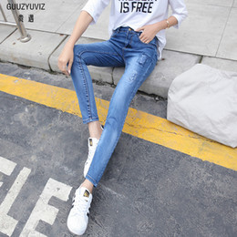 Jeans Guuzyuviz Velvet Jeans Woman 2018 Casual High Waist Jeans Women Plus Size Jeans Mujer Warm Cotton Denim Harem Pants Femme Women's Clothing