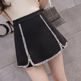 97296fbf3b7 2 colors S-XL 2018 Women lace patchwork Shorts Skirts Female High Waist  Shorts Black White Casual Summer Woman (5926)