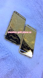 $enCountryForm.capitalKeyWord Australia - For Iphone6 6s golden concept housing back, 6s plus gold housing and for iphone6 plus real gold with leopard deep free shipping