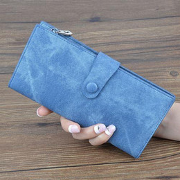 $enCountryForm.capitalKeyWord Australia - YOUYOU MOUSE Fashion Long PU Leather Women Wallets Denim Pattern Phone Bag Purse Lady Clutch 3 Fold Zip Card Holder Money Wallet