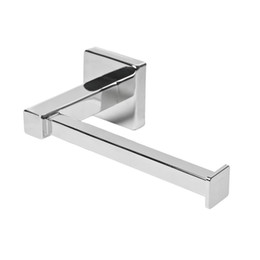 Paper Roll Holders Australia - Chrome Square Bathroom Toilet Roll Holder Wall Mounted Toilet Roll