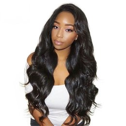 Discount yaki body wave full lace Glueless Full Lace Human Hair Wigs With Baby Hair Body Wave Brazilian Remy Hair Body Wave With Bleach Knots