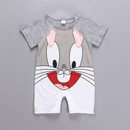$enCountryForm.capitalKeyWord Australia - Newborn Baby Cotton Rompers Lovely Rabbit Ears Baby Boy Girls Short Sleeve Baby Costume Jumpsuits Roupas Infant Clothes