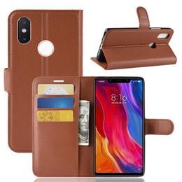 $enCountryForm.capitalKeyWord Canada - New Fashion Litchi Pattern Flip Magnetic PU Leather Wallet Phone Case For Xiaomi MI 8SE MI8SE Lychee Grain Cover