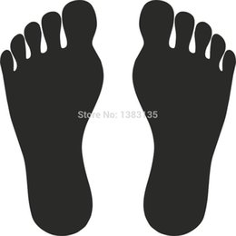 $enCountryForm.capitalKeyWord Australia - HotMeiNi Wholesale 20pcs lotNew ! Foot Vector Image Sticker Vinyl Decal Funny JDM Car Window And All The Smooth Surface