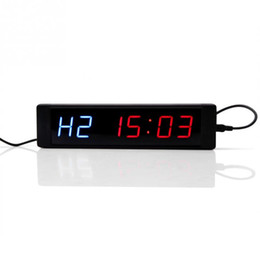 $enCountryForm.capitalKeyWord UK - Programmable Training Timer LED Display Interval Timer Wall Clock with Remote for Gym Fitness Training