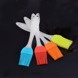Wholesale Silicone Pastry Brush Baking Bakeware BBQ Cake Pastry Bread Oil Cream Cooking Basting Tools Kitchen Accessories Gadget Multi color Select