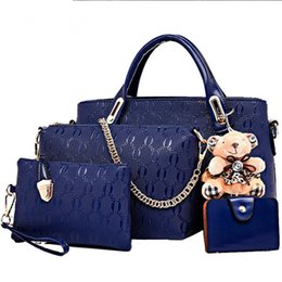 $enCountryForm.capitalKeyWord UK - Women Handbags Leather Bag 4 Set Large Capacity Women Shoulder Bag Crossbody Bags For Card Holder Bear Designer Fashion