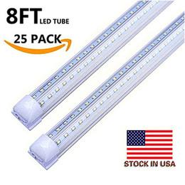 T8 8ft 72 watt tubo integrato luce V forma LED tubo T8 4ft 5ft 6ft 8 ft congelatore porta congelatore LED illuminazione in Offerta