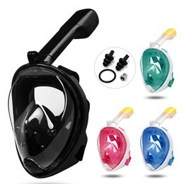 Swimming underwater camera online shopping - 5 Colors Underwater Diving Mask Snorkel Set Swimming Training Scuba Full Face Snorkeling Mask Anti Fog With Camera Stand